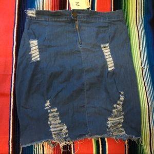 Super cute distressed Soft Jean short skirt